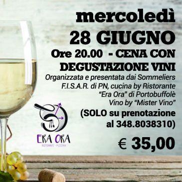 Cena degustazione Vini